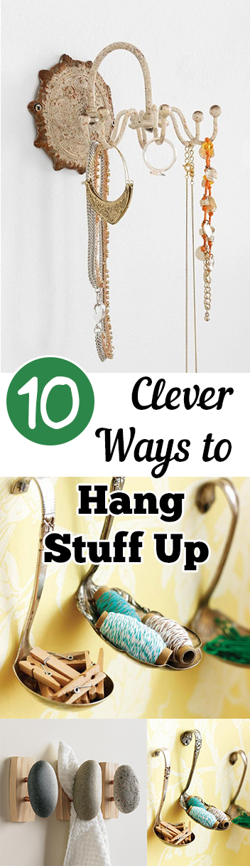 10 clever ways to hang stuff up my list of lists for Ways to hang hats on wall