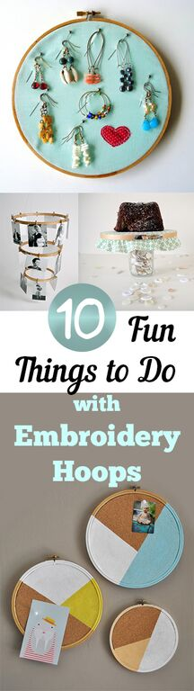 10 Fun Things to Do with Embroidery Hoops