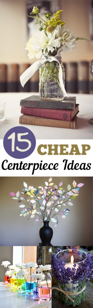 15 CHEAP Centerpiece Ideas