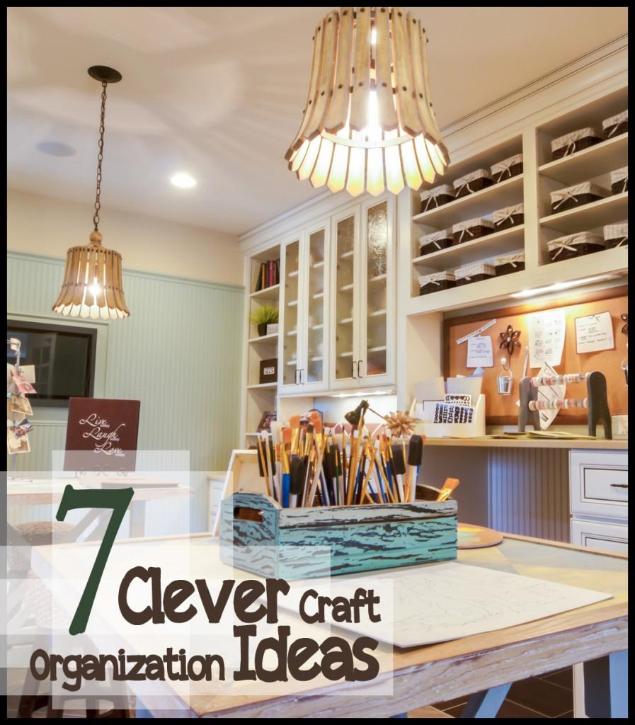 Clever Craft Organization Idea 897 x 1024