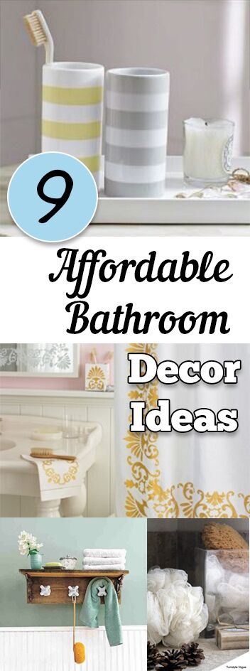 9 Affordable Bathroom Decor Ideas
