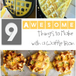 9 Awesome Things to Make with a Waffle Iron- creative things to make in your waffle iron that aren't traditional waffles. Fun ideas for a party or breakfast.