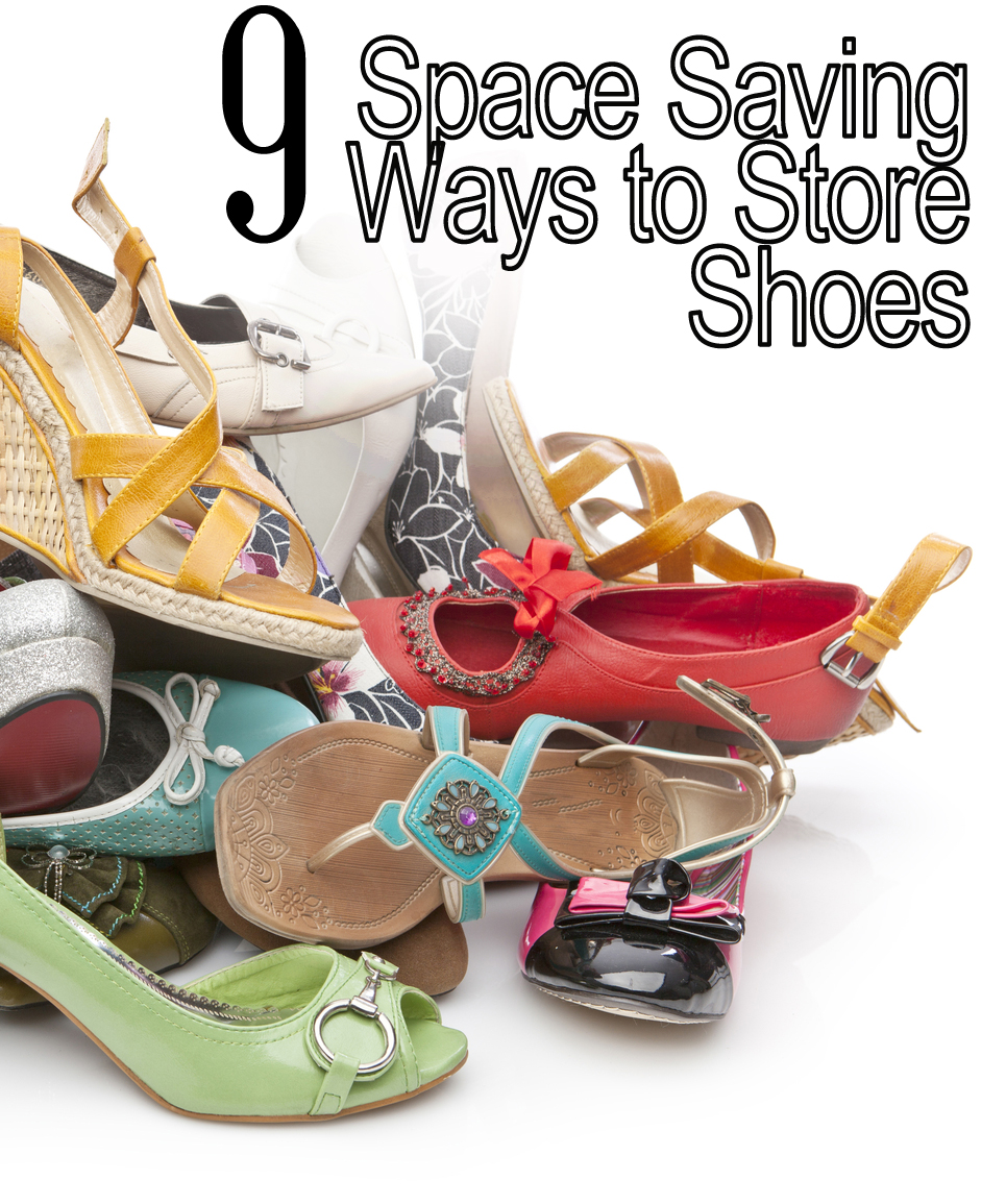 11 space saving ways to organize your shoes my list of lists. Black Bedroom Furniture Sets. Home Design Ideas