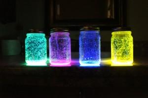 Mason jar glow stick