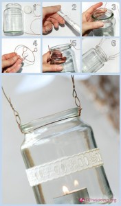 Mason Jar Hanging Lamp