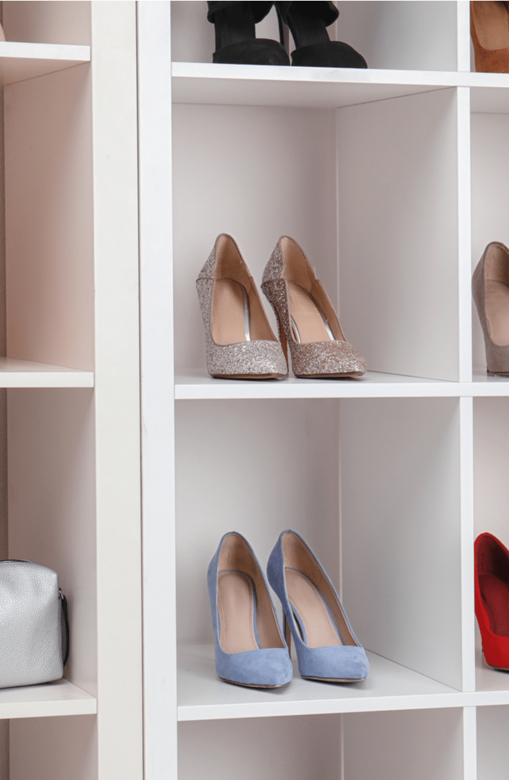 Storage benches are a great way to store shoes. Before they take over the closet and you lose your mind trying to find the right pair, take a look at these awesome ways to organize shoes.