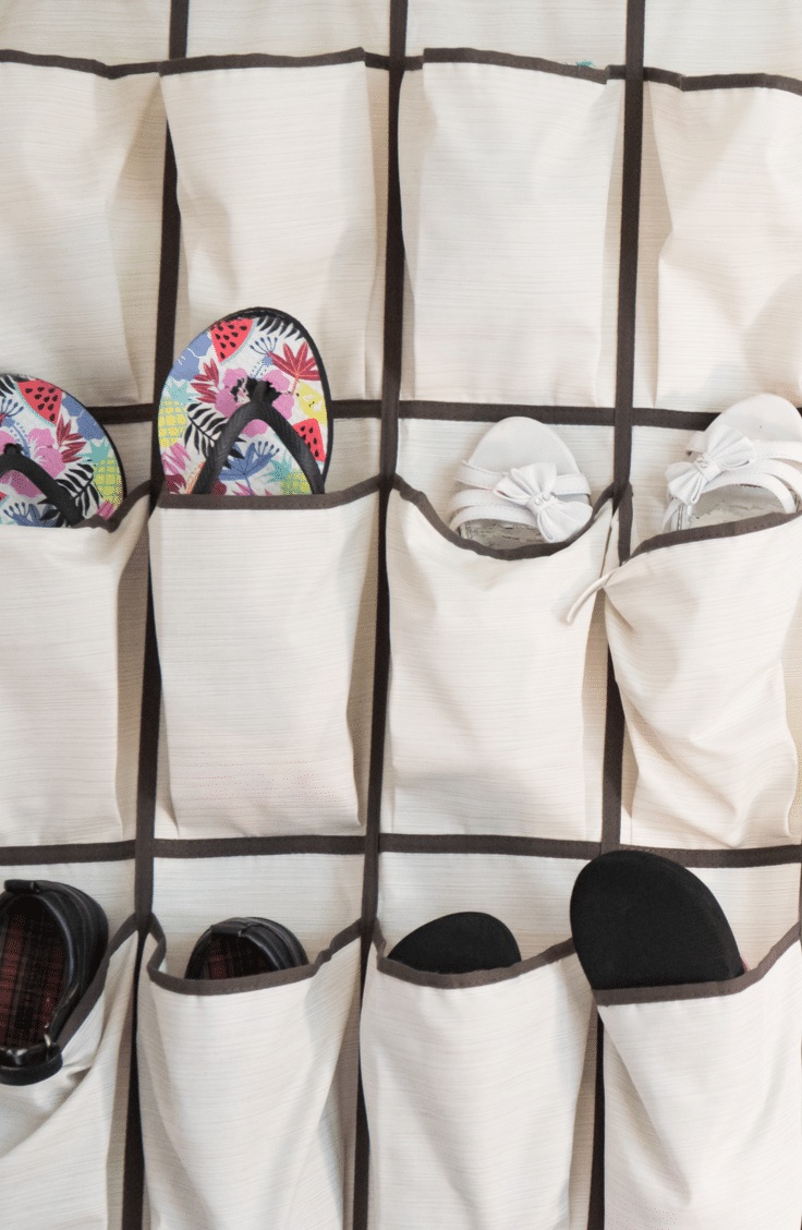 Over the door shoe organizers are great for many reasons! Before they take over the closet and you lose your mind trying to find the right pair, take a look at these awesome ways to organize shoes.