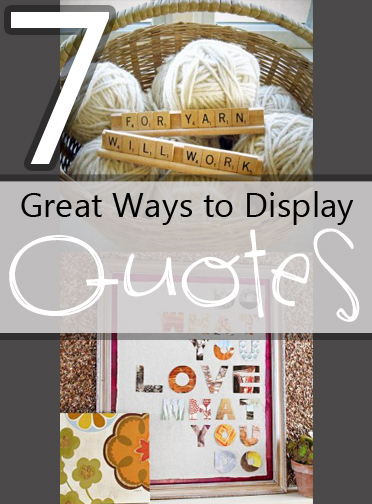 Unique Ways To Decorate Living Room: Creative Ways To Display Quotes. QuotesGram