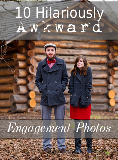 10 Hilariously Awkward Engagement Photos