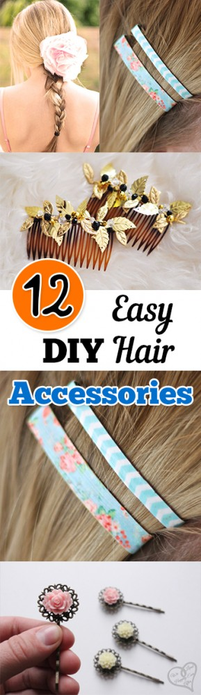 12 Easy DIY Hair Accessories