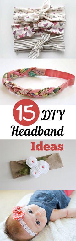 Headbands, DIY headband ideas, no sew projects, popular pin, hair ideas, hair tips and tricks, beauty, style
