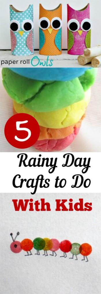 5 Rainy Day Crafts to Do With Ki