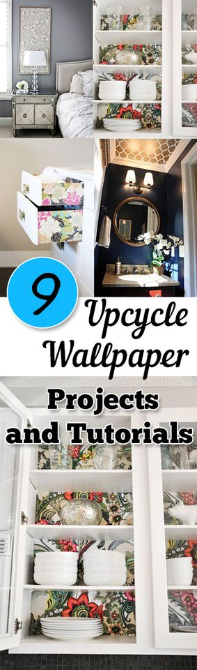 9 Upcycle Wallpaper Projects and Tutorials