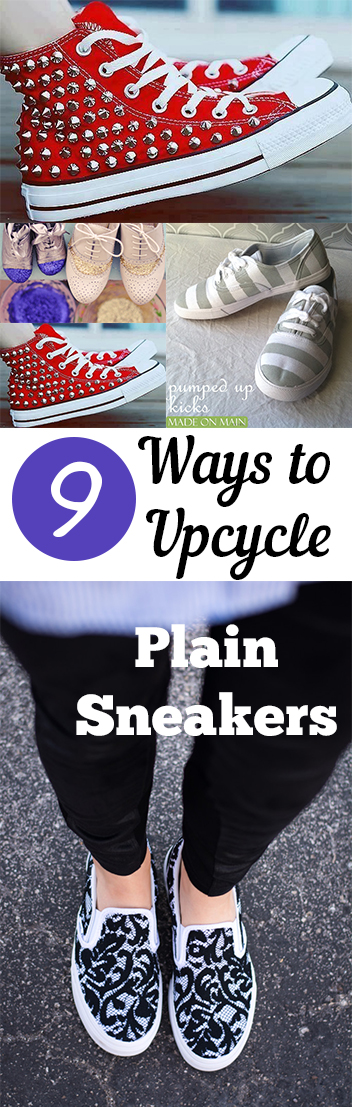 9 Ways to Upcycle Plain Sneakers