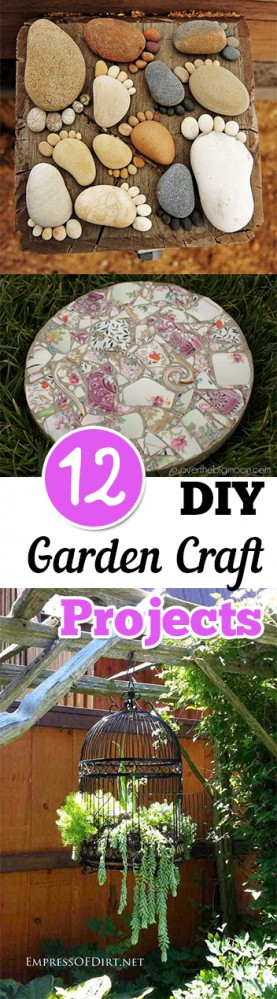 DIY garden, DIY garden crafts, gardening projects, gardening hacks, crafting, outdoor crafting, popular pin, garden crafts