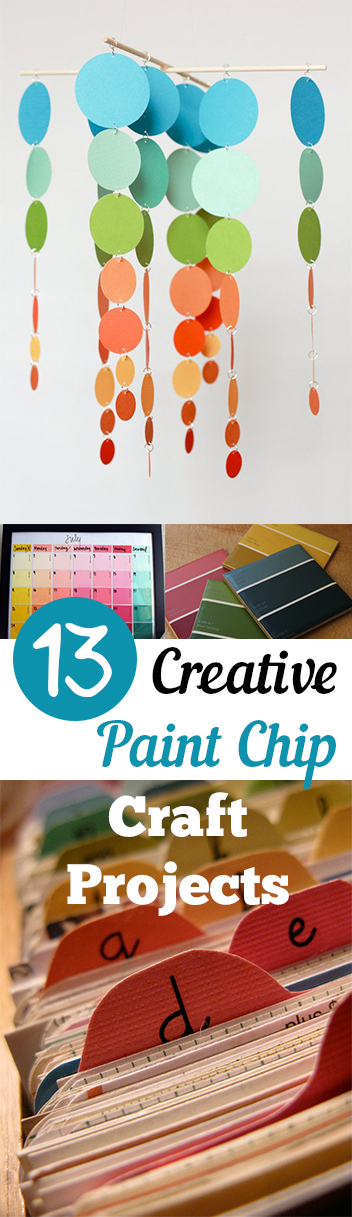 13 Creative Paint Chip Craft Projects