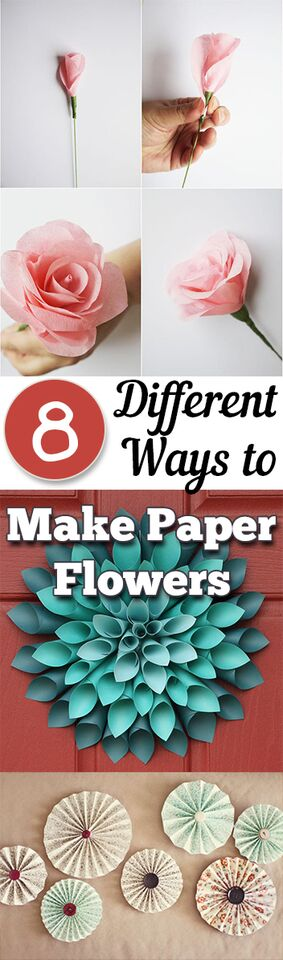 8 different ways to make paper flowers page 9 of 9 my for How to make decorative things