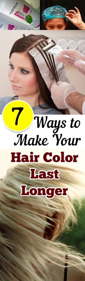 7 Ways to Make Your Hair Color Last Longer