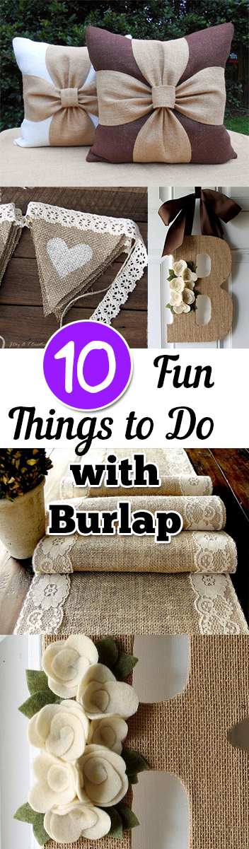 10 fun things to do with burlap my list of lists