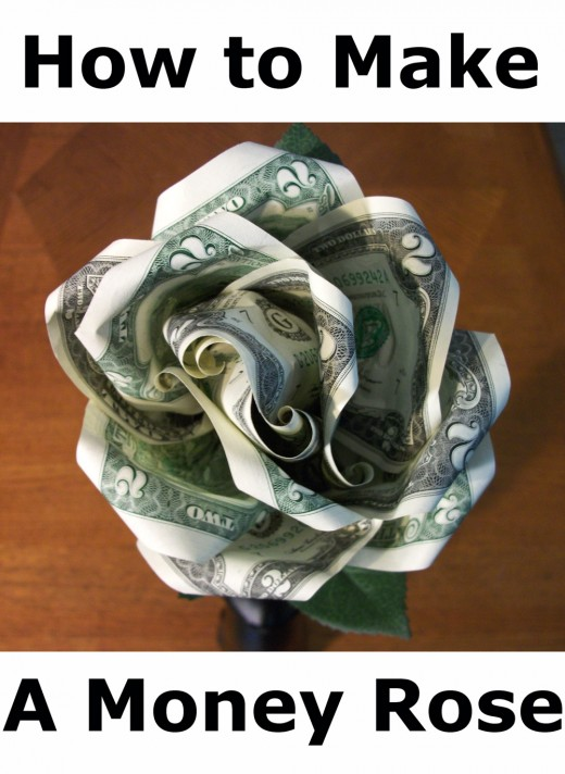 Creative Ways To Give Money As A Gift- A money rose