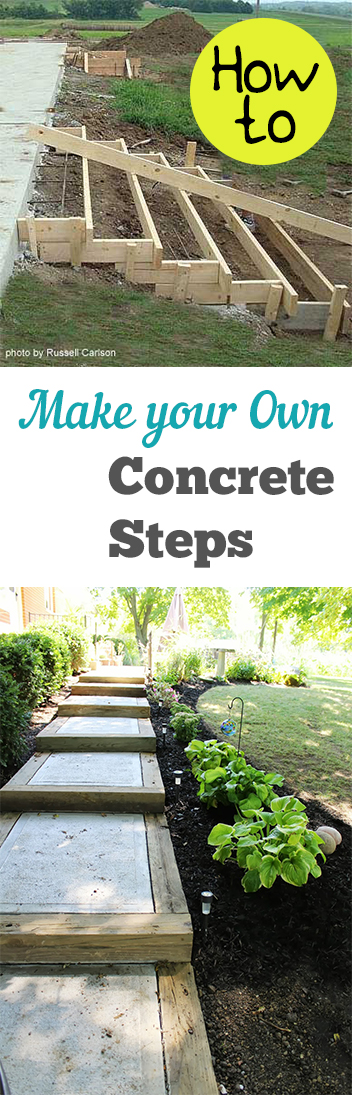How To Make Your Own Concrete Steps My List Of Lists