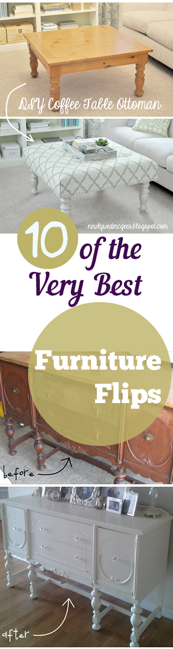 DIY Furniture Flips, How To Flip Furniture, Flipping Furniture Tutorials,  DIY Home Projects
