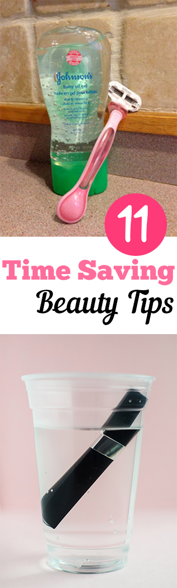 11 Time Saving Beauty Tips. Natural, DIY, natural remedies, natural remedies, health and beauty, DIY makeup. #beauty #health #beautytips #makeup #makeuphacks #hairandmakeup