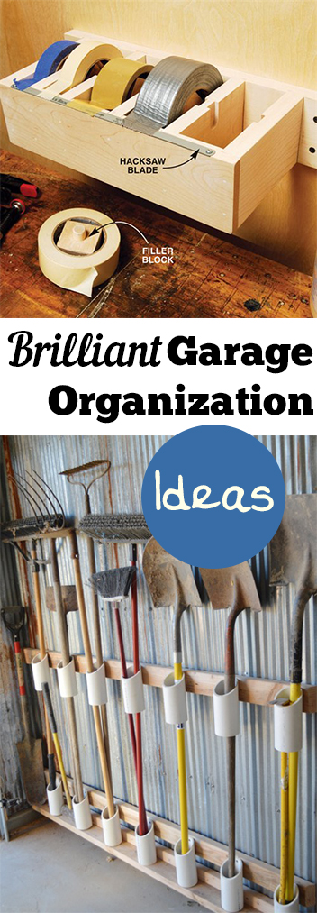 Brilliant Garage Organization Ideas. Cleaning, cleaning tips, home cleaning, cleaning hacks, bathroom, home décor, organization, home organization, DIY, cleaning, do it yourself. #organization #homeorganization #homeorganizationhacks #storage #homestorage