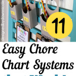 11 Easy Chore Chart Systems that Work!