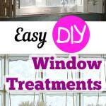 DIY window treatments, easy window treatments, DIY projects, easy home improvement, window treatment ideas, popular pin, DIY home projects, home decor ideas