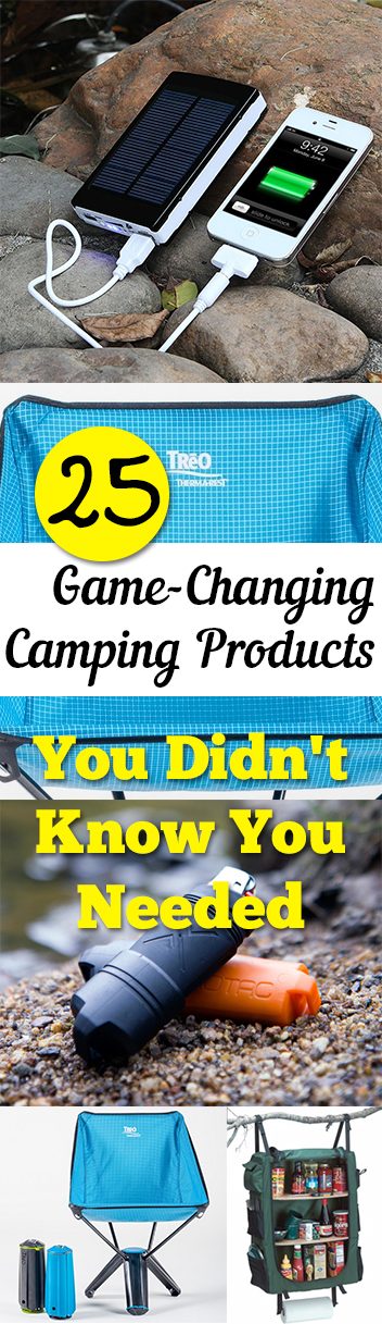 25 Game-Changing  Camping Products You Didn't Know You Needed. Tips, tricks, hacks, shopping hacks, money hacks, cleaning, life hacks, life tips. #camping #outdoorliving #travel #outdoorfun #diyoutdoor #outdoorhacks #traveltips