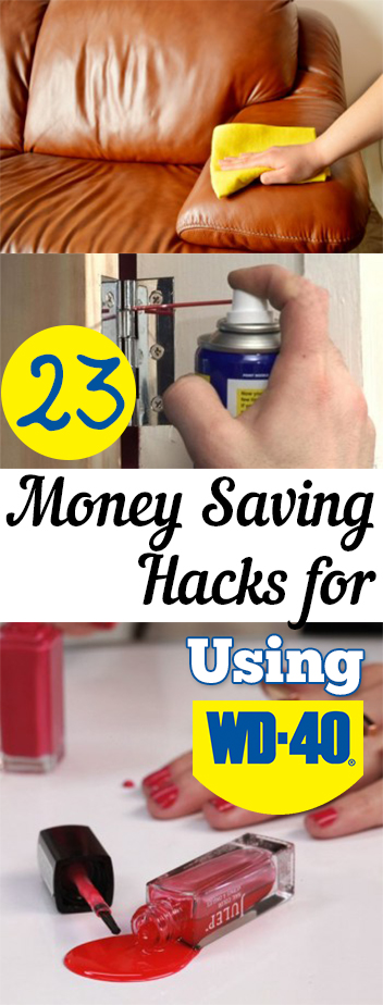 Money saving tips, money saving hacks, popular pin, WD-40, cleaning hacks, cleaning ideas, cleaning tips.