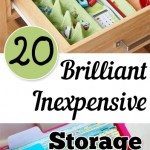 20 Brilliant Inexpensive Storage Ideas