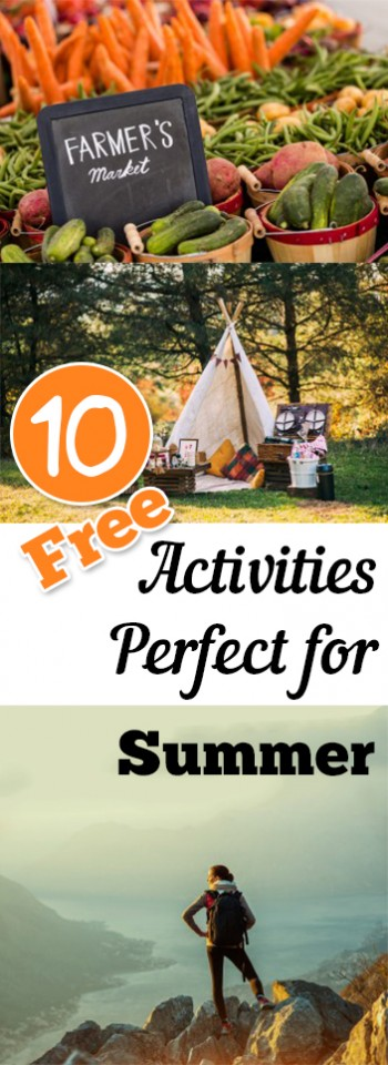 10 FREE Activities Perfect for Summer
