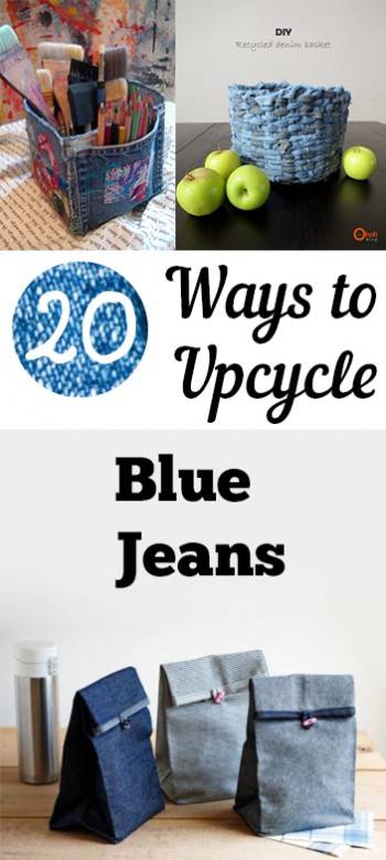 20 ways to upcycle your blue jeans my list of lists. Black Bedroom Furniture Sets. Home Design Ideas