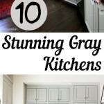 gray kitchens, kitchens, beautiful kitchens, gorgeous kitchen, popular pin, interior paint colors, kitchen paint colors