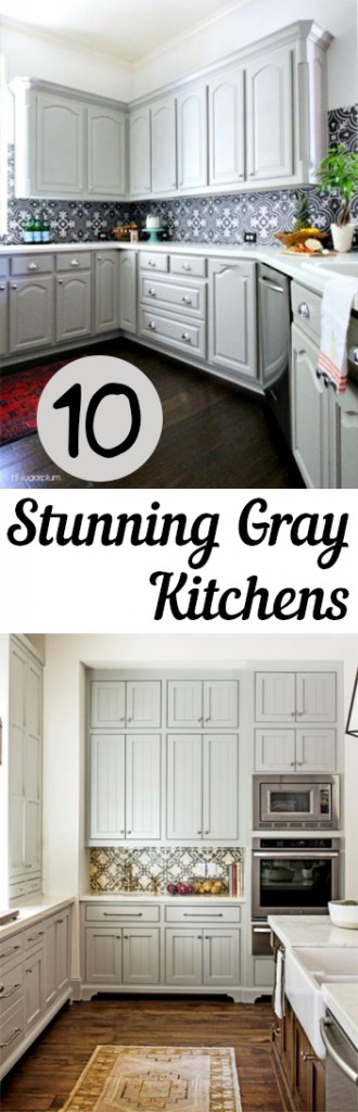 gray kitchens, kitchens, beautiful kitchens, gorgeous kitchen, popular pin, interior paint colors, kitchen paint colors