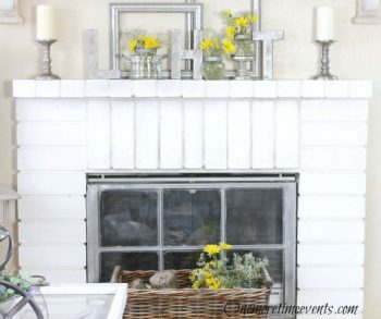 Spring-Fireplace-with-daisies