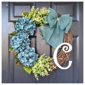 eucalyptus-hydrangea-wreath