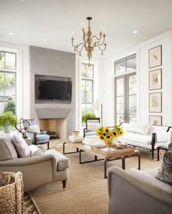 10+ Dramatic Ways to Decorate Above Your Mantle3