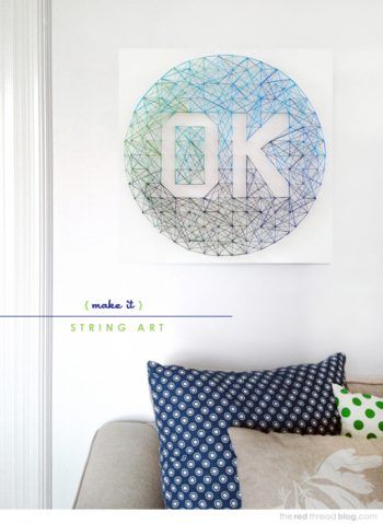 12 Adorable String Art Craft Projects