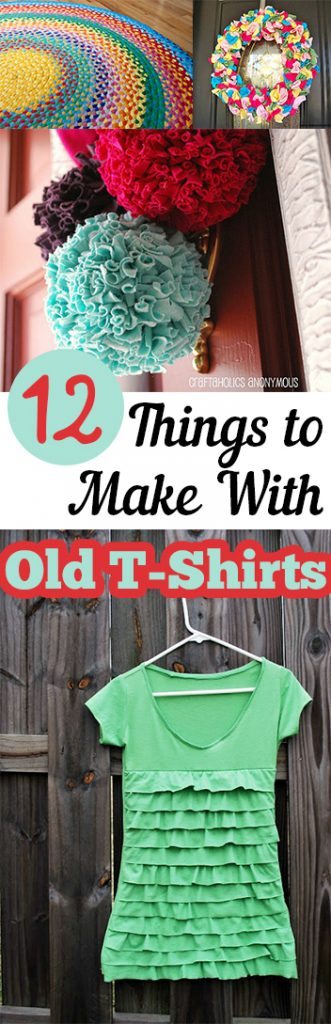 Things to Do With Old T-Shirts, How to Reuse Old T-Shirts, Repurpose Old T-Shirts, Craft Projects, Upcycling Projects, Things to Do With Ruined Clothing, Popular