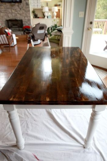 The Easy Way To Add A High Gloss Stain To Any Piece Of