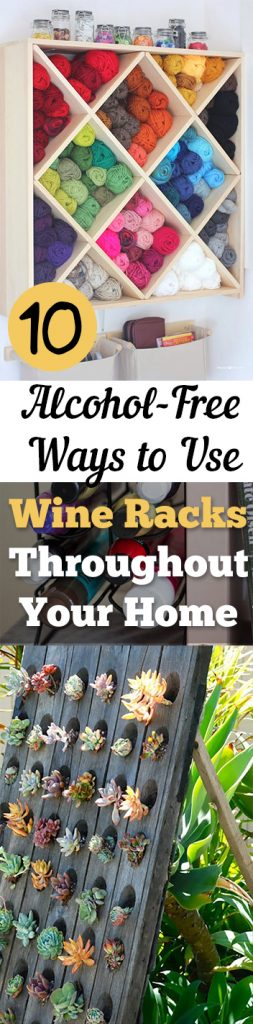 10 Alcohol-Free Ways to Use Wine Racks Throughout Your Home - How to Organize With Wine Racks, Organizing With Wine Racks, Things to Do With Wine Racks, Home Decor, Home Organization and Storage, Unique Storage Ideas for the Home, Popular Pin