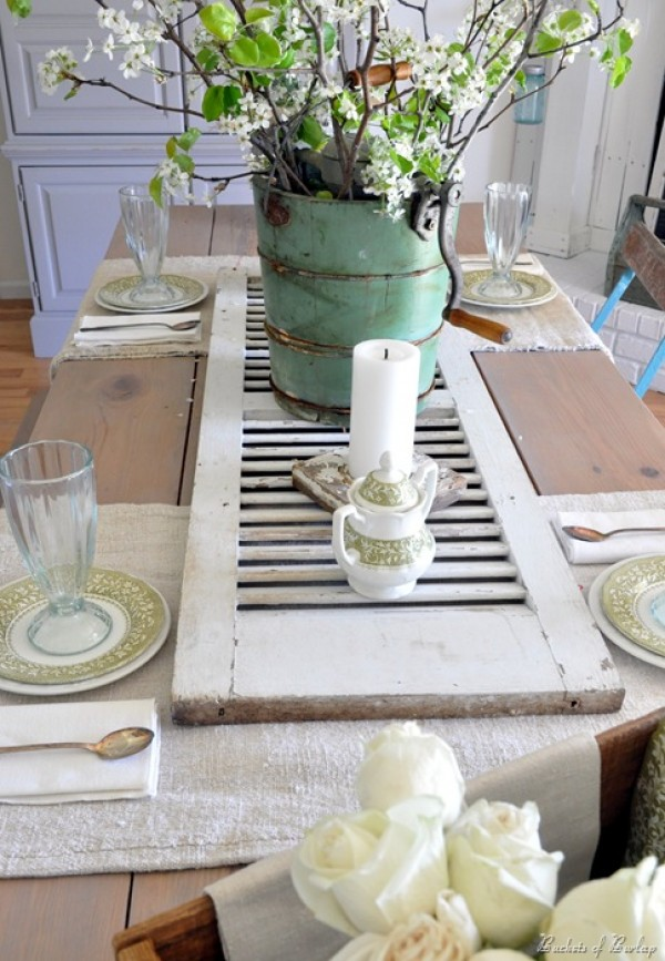 Don't Shudder: 10 Ways to Repurpose Old Shutters Throughout the Home - How to Reuse Old Shutters, Repurpose Old Shutters, Repurpose Projects, DIY Home, DIY Home Decor, DIY Home Hacks, Repurpose Projects for The Home.