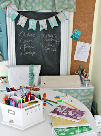 10 DIY Homework Stations for Back to School - Back To School, Back to School Homework Stations, Homework Stations, DIY Homework Stations, Homework Organization, Back to School Projects.