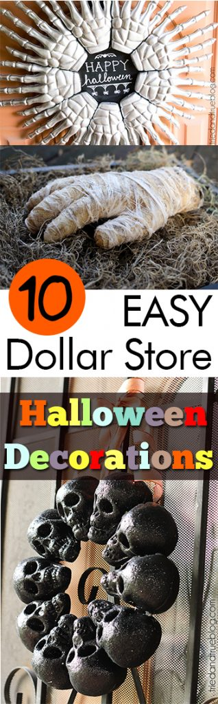 10 easy dollar store halloween decorations dollar store halloween decor diy halloween decor - Cheap Halloween Decor