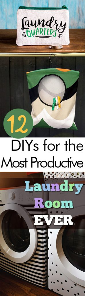 12 DIYs for the Most Productive Laundry Room EVER - My List of Lists| Laundry Room DIYs, DIY Laundry Room Decor, Laundry Room Organization, Laundry Room Organization Tips, Make Your Laundry Room More Productive!