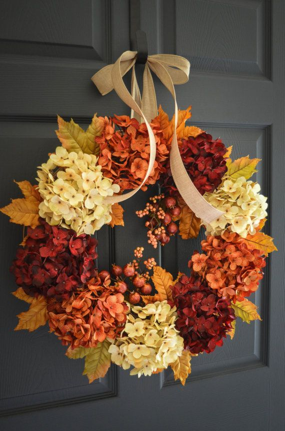 Front Door Decorations for Fall - Fall Porch Decor, DIY Front Porch, Holiday Porch Decor, Front Porch Fall, Holiday Home Decor, DIY Holiday Decor, Curb Appeal, Curb Appeal Projects, Popular Pin
