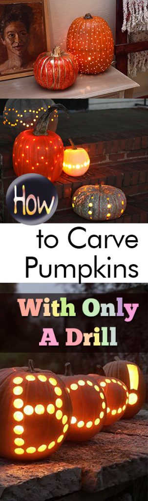 How to Carve Pumpkins With Only A Drill - My List of Lists| Carving Pumpkins, Pumpkin Carving Hacks, How to Carve Pumpkins, Pumpkin Carving Designs, Cool Ways to Carve Pumpkins, How to Carve Pumpkins With a Drill, Popular Pin